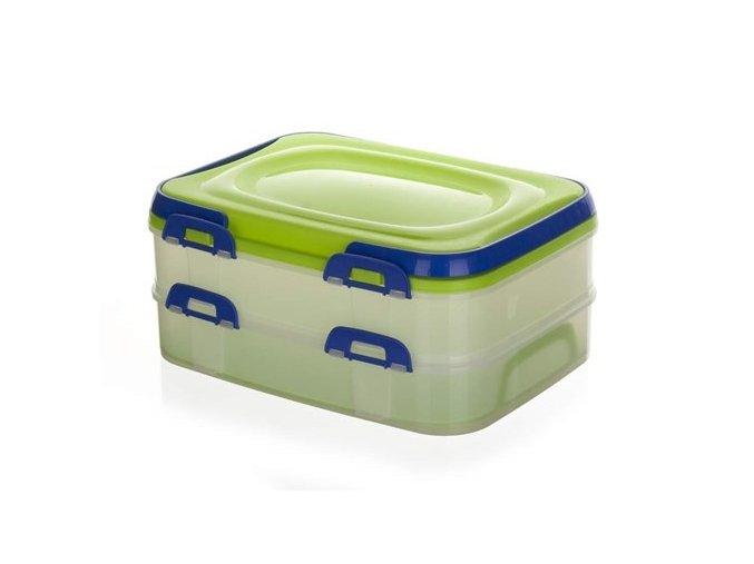 Box úložný na potraviny PIKNIK DUO 39x30x17cm, mix barev