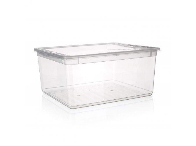 Box úložný BEA 39x33,5x18cm 18L čirý
