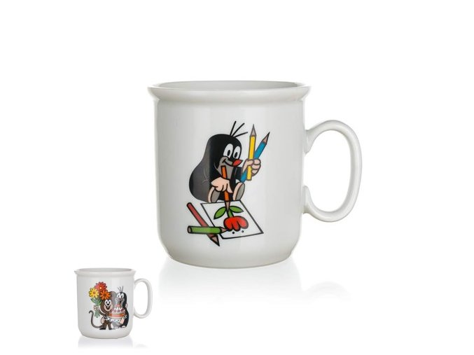 Hrnek dětský porcelán 160ml  KRTEK, mix dekorů