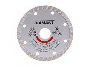Kotouč diamant řezný ¤115x22,2mm TURBO  DIAMANT