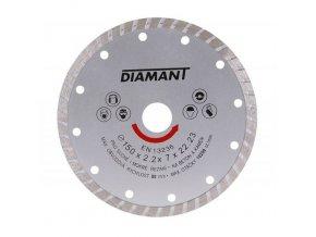 Kotouč diamant řezný ¤150x22,2mm TURBO  DIAMANT