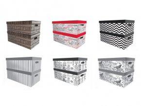 Krabice ukládací ozdobná 35x26x21cm mix dekorů  MS
