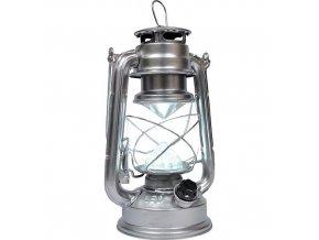 Lampa LED 23,5cm 4xAA  RETRO kov stříbrná