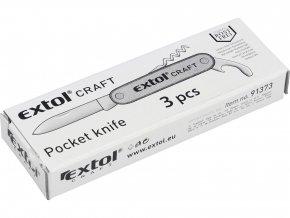 Nůž kapesní zavírací 3 díly nerez  EXTOL CRAFT