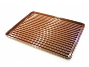 Odkapávač nádobí 40x50cm PLATO hnědý  CZ