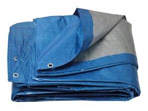 Plachta zakrývací ¤4,5m 120g PROFI modrostříbrná