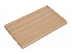 Prkénko na maso dřevo s drážkou 20x30x2,2cm  CZ