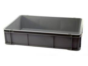 Přepravka lahůdková NLÚ 30kg šedá  CZ (balík max.7ks)