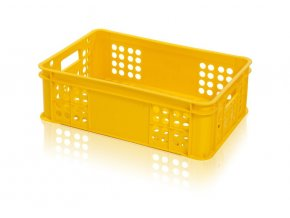 Přepravka pečivo S1 15kg žlutá  CZ (balík max.5ks)