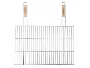 Rošt grilovací 58x38cm dřevo ručky  BBQ