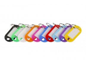 Rozlišovač klíčů visačka 100ks  FESTA, mix barev