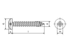 Šroub 5,5x 25mm  Zn PH DIN 7981-C 100ks (odběr bal. 500ks)