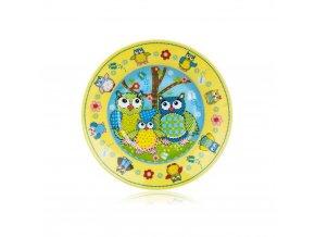 Talíř dětský keramika 20cm hluboký OWLS