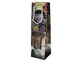 Taška dárková 35x10x10cm na víno  HROZNY