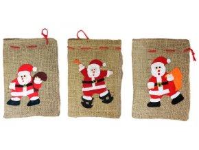 Taška vánoční/mikulášská s dekorací JUTA 26x20cm