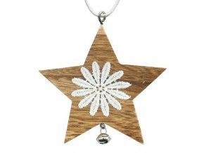 Vánoční ozdoba hvězda X0086A 5ks  MAGICHOME