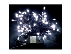 Vánoční řetěz 100xLED studená bílá, 10m, 230V, 8 funkcí