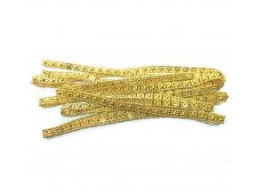 Vánoční řetěz dekorační zlatý RUS