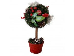 Vánoční stromek ozdobený umělý kulatý 30cm