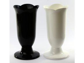 Váza hřbitovní flakon ¤16cm  PLAFOR černá