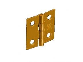 Závěs dveřní 25x24mm splétaný 10 ks Zn žlutý