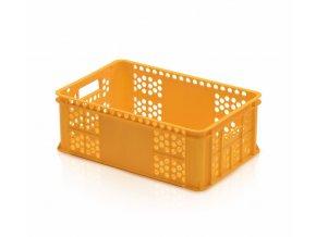 Přepravka pečivo S22 15kg žlutá (balík max.4ks)