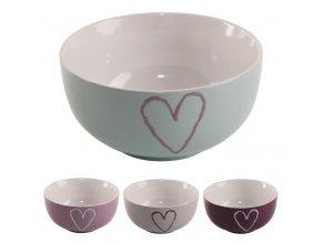 Miska keramika ¤13cm SRDCE