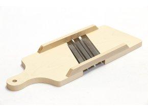 Struhadlo zelí 3 nože 42x15,5cm s ručkou  WOOD