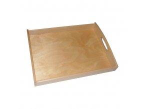 Podnos dřevo servírovací 50x40x6cm  WOOD, mix odstínů