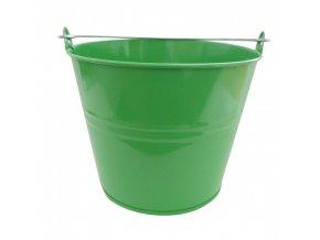Vědro  5L Zn lakované zelené