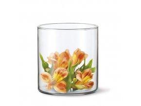 Váza sklo 12cm  DRUM
