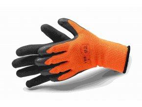 Rukavice pracovní textil/nitril zateplené YES XL(10)