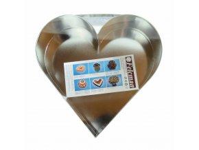 Forma dortová srdce střední 25x24cm  CZ