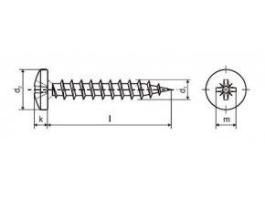 Šroub 5,0x20mm ZB PZ 100ks