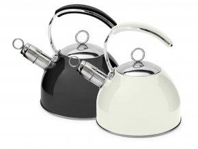 Konvice čajník nerez/lak 2,5L  LUX indukce, bílá