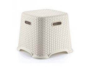 Stolička taburet  RATAN BELLA nízká 120kg 27cm, mix barev