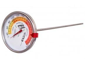 Teploměr do udírny 40-260°C s hrotem a klipem ORION