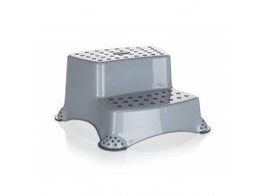 Stolička dvojschůdek 40x37x21cm protikluz 120kg  KEEEPER šedá