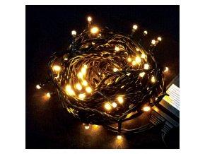 Vánoční řetěz 100xLED žlutá, 10m, 230V, 8 funkcí