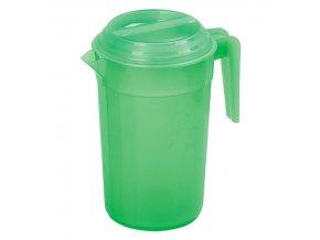 Džbán plastový 2L s víkem, kulatý  POBEDA, mix barev