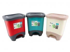Koš odpadkový pedál  8L  ECO L, mix barev