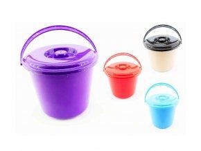 Vědro  5L PH s víkem  POBEDA, mix barev