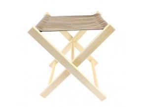 Stolička skládací dřevo/textil  WOODY