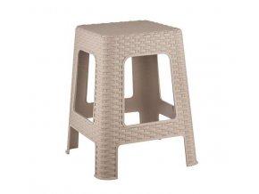 Stolička taburet  RATANO 120kg 46cm béžová