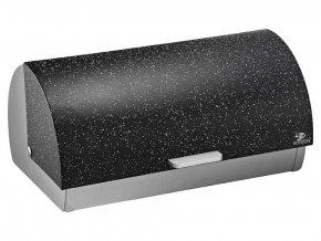 Chlebovka nerez 38x25,5x18,5cm  MRAMOR černá