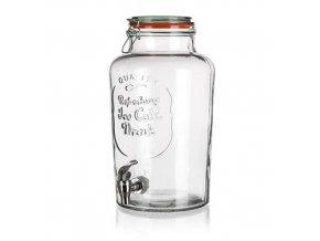 Zásobník láhev sklo 7000ml s kohoutkem  SUMMER