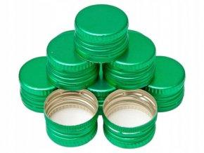 Uzávěr PP 28x18mm alkork, závit, pojistka, zelený