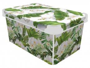 Box úložný 34,5x23x16cm 10L  BOTANIC