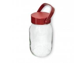 Dóza sklenice 8L s plastovým víkem  TREAT