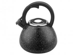 Konvice čajník nerez/lak 2,7L  MRAMOR černá, indukce